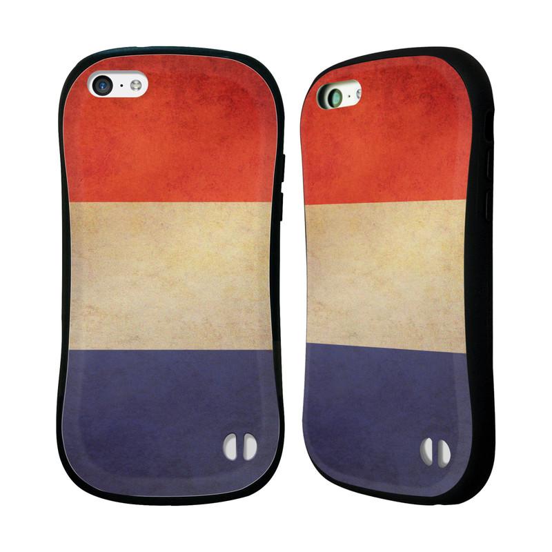 Nárazuvzdorné pouzdro na mobil Apple iPhone 5C HEAD CASE VLAJKA FRANCIE (Odolný nárazuvzdorný silikonový kryt či obal na mobilní telefon Apple iPhone 5C)