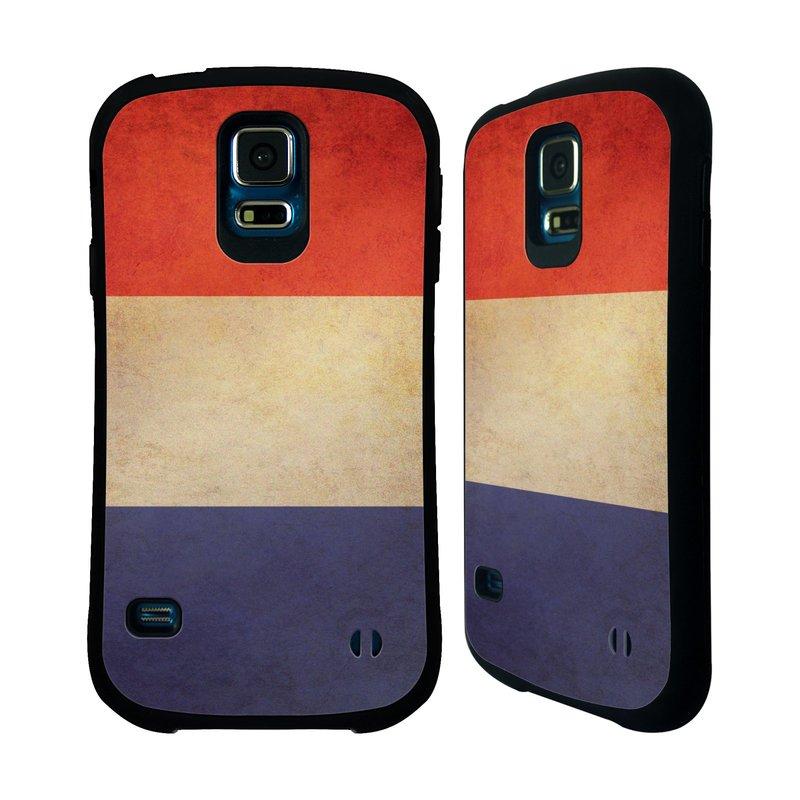 Nárazuvzdorné pouzdro na mobil Samsung Galaxy S5 HEAD CASE VLAJKA FRANCIE (Odolný nárazuvzdorný silikonový kryt či obal na mobilní telefon Samsung Galaxy S5 SM-G900F)