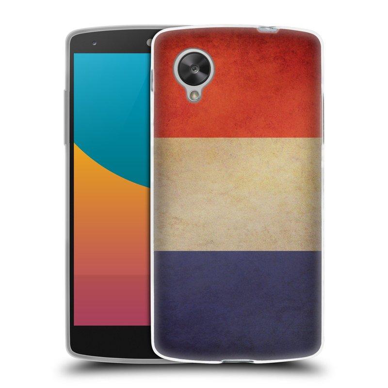 Silikonové pouzdro na mobil LG Nexus 5 HEAD CASE VLAJKA FRANCIE (Silikonový kryt či obal na mobilní telefon LG Google Nexus 5 D821)