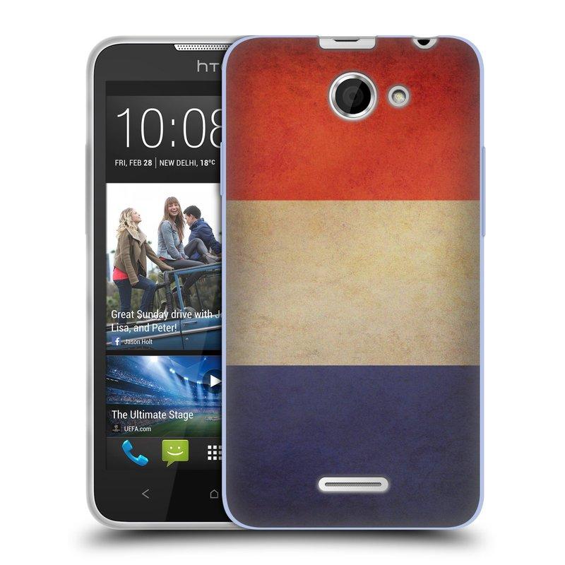 Silikonové pouzdro na mobil HTC Desire 516 HEAD CASE VLAJKA FRANCIE (Silikonový kryt či obal na mobilní telefon HTC Desire 516 Dual SIM)