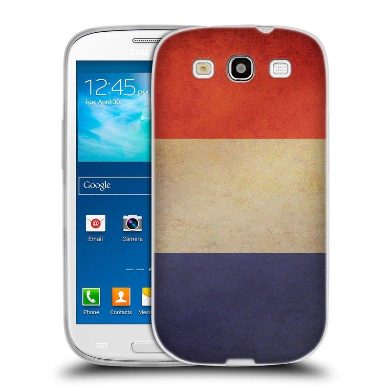 Silikonové pouzdro na mobil Samsung Galaxy S III HEAD CASE VLAJKA FRANCIE (Silikonový kryt či obal na mobilní telefon Samsung Galaxy S III GT-i9300)