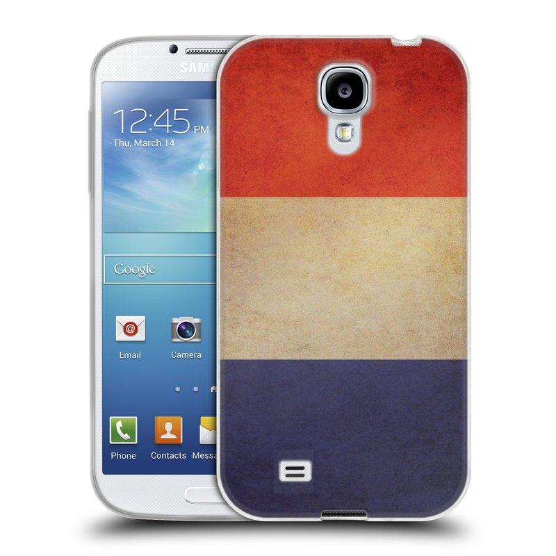 Silikonové pouzdro na mobil Samsung Galaxy S4 HEAD CASE VLAJKA FRANCIE (Silikonový kryt či obal na mobilní telefon Samsung Galaxy S4 GT-i9505 / i9500)