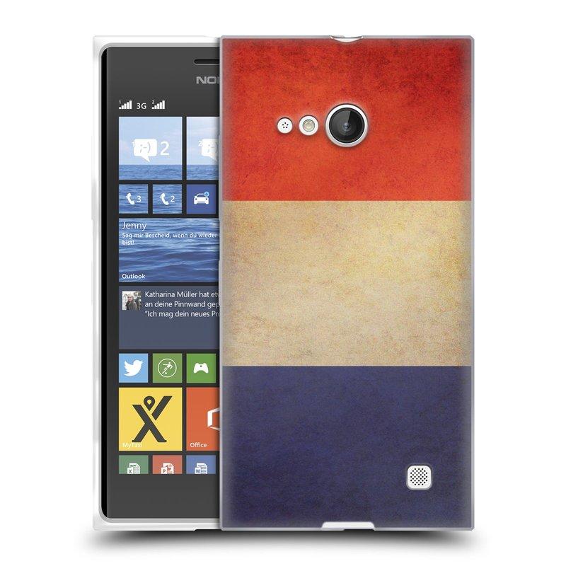 Silikonové pouzdro na mobil Nokia Lumia 730 Dual SIM HEAD CASE VLAJKA FRANCIE (Silikonový kryt či obal na mobilní telefon Nokia Lumia 730 Dual SIM)