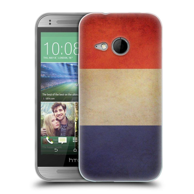 Silikonové pouzdro na mobil HTC ONE Mini 2 HEAD CASE VLAJKA FRANCIE (Silikonový kryt či obal na mobilní telefon HTC ONE Mini 2)