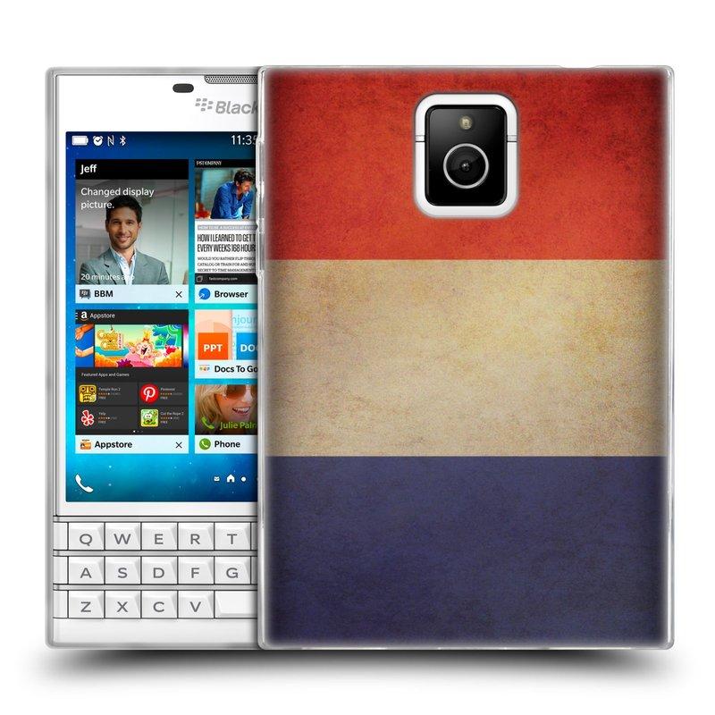 Silikonové pouzdro na mobil Blackberry PASSPORT HEAD CASE VLAJKA FRANCIE (Silikonový kryt či obal na mobilní telefon Blackberry PASSPORT)