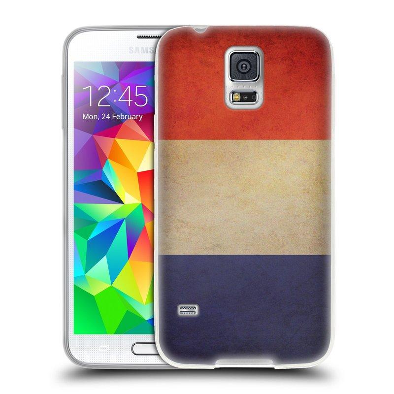 Silikonové pouzdro na mobil Samsung Galaxy S5 HEAD CASE VLAJKA FRANCIE (Silikonový kryt či obal na mobilní telefon Samsung Galaxy S5 SM-G900F)