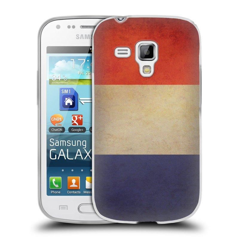 Silikonové pouzdro na mobil Samsung Galaxy S Duos HEAD CASE VLAJKA FRANCIE (Silikonový kryt či obal na mobilní telefon Samsung Galaxy S Duos GT-S7562)