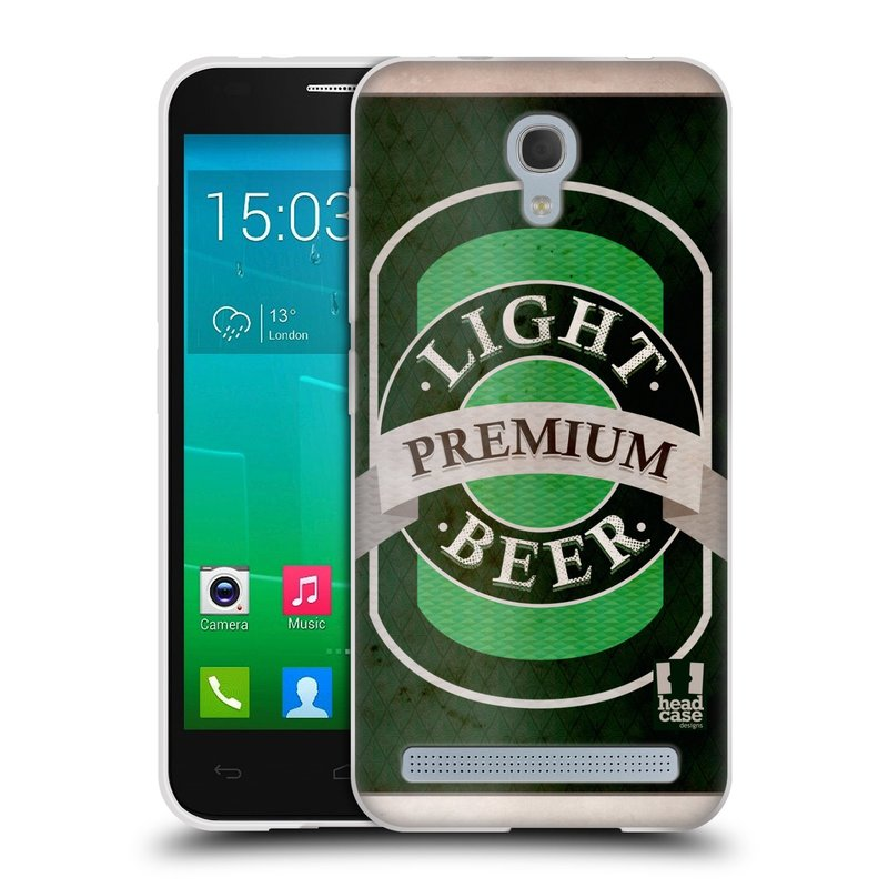 Silikonové pouzdro na mobil Alcatel One Touch Idol 2 Mini S 6036Y HEAD CASE PIVO PREMIUM (Silikonový kryt či obal na mobilní telefon Alcatel Idol 2 Mini S OT-6036Y)