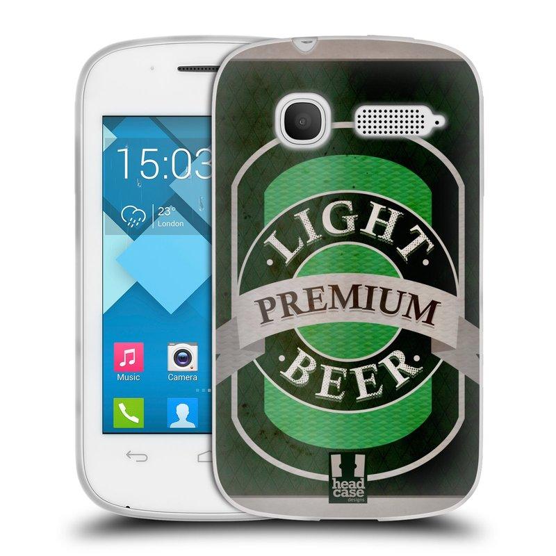 Silikonové pouzdro na mobil Alcatel One Touch Pop C1 HEAD CASE PIVO PREMIUM (Silikonový kryt či obal na mobilní telefon Alcatel OT-4015D POP C1)