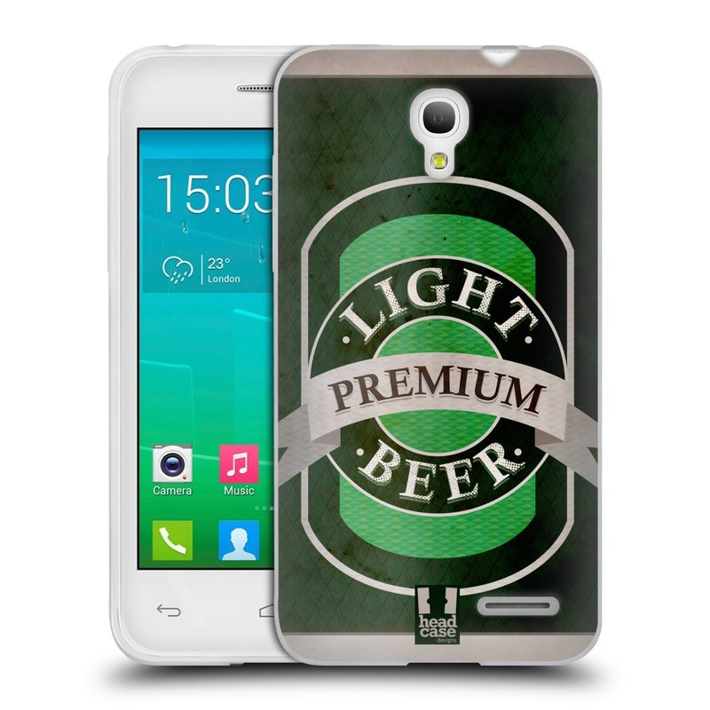 Silikonové pouzdro na mobil Alcatel One Touch Pop S3 HEAD CASE PIVO PREMIUM (Silikonový kryt či obal na mobilní telefon Alcatel OT- 5050Y POP S3)