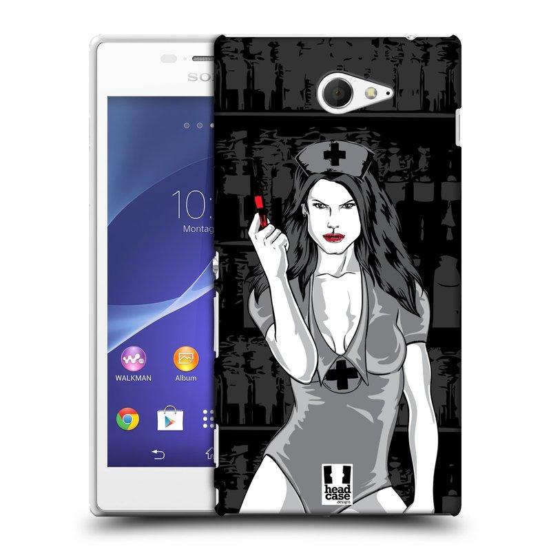 Plastové pouzdro na mobil Sony Xperia M2 D2303 HEAD CASE TESSA (Kryt či obal na mobilní telefon Sony Xperia M2 )