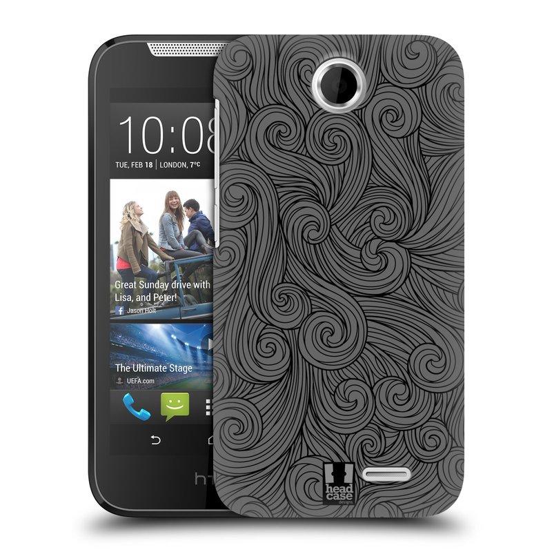 Plastové pouzdro na mobil HTC Desire 310 HEAD CASE Dark Grey Swirls (Kryt či obal na mobilní telefon HTC Desire 310)