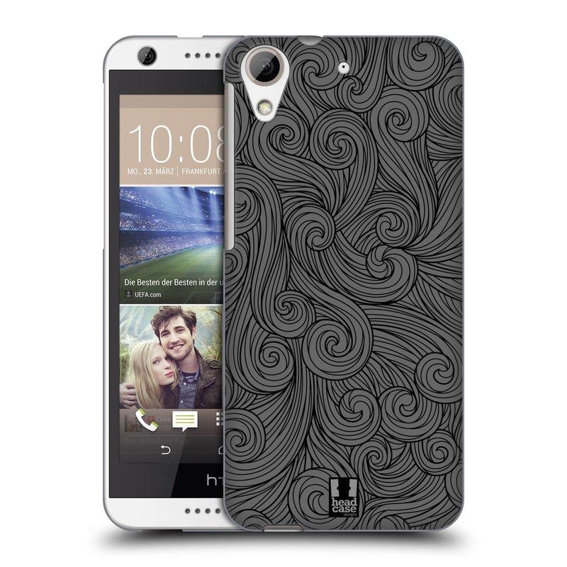 Plastové pouzdro na mobil HTC Desire 626 / 626G HEAD CASE Dark Grey Swirls (Kryt či obal na mobilní telefon HTC Desire 626G Dual SIM a HTC Desire 626)