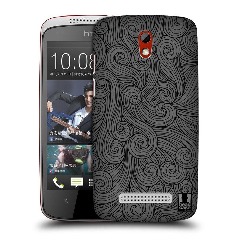 Plastové pouzdro na mobil HTC Desire 500 HEAD CASE Dark Grey Swirls (Kryt či obal na mobilní telefon HTC Desire 500)