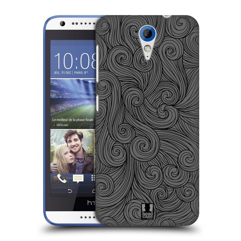 Plastové pouzdro na mobil HTC Desire 620 HEAD CASE Dark Grey Swirls (Kryt či obal na mobilní telefon HTC Desire 620)