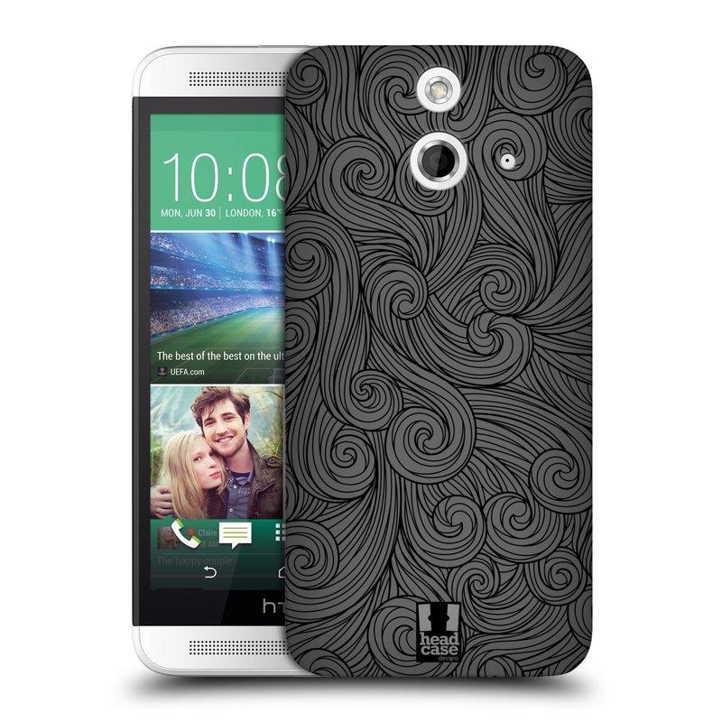 Plastové pouzdro na mobil HTC ONE E8 HEAD CASE Dark Grey Swirls (Kryt či obal na mobilní telefon HTC ONE E8)