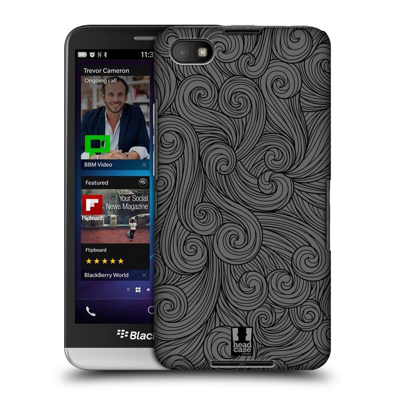Plastové pouzdro na mobil Blackberry Z30 HEAD CASE Dark Grey Swirls (Kryt či obal na mobilní telefon Blackberry Z30)