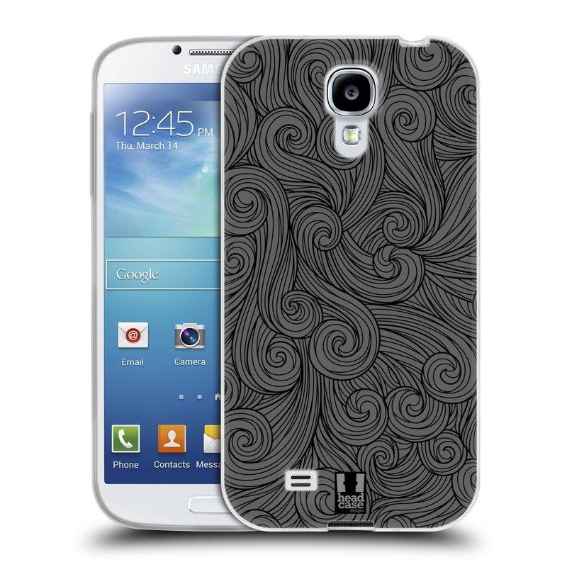 Silikonové pouzdro na mobil Samsung Galaxy S4 HEAD CASE Dark Grey Swirls (Silikonový kryt či obal na mobilní telefon Samsung Galaxy S4 GT-i9505 / i9500)