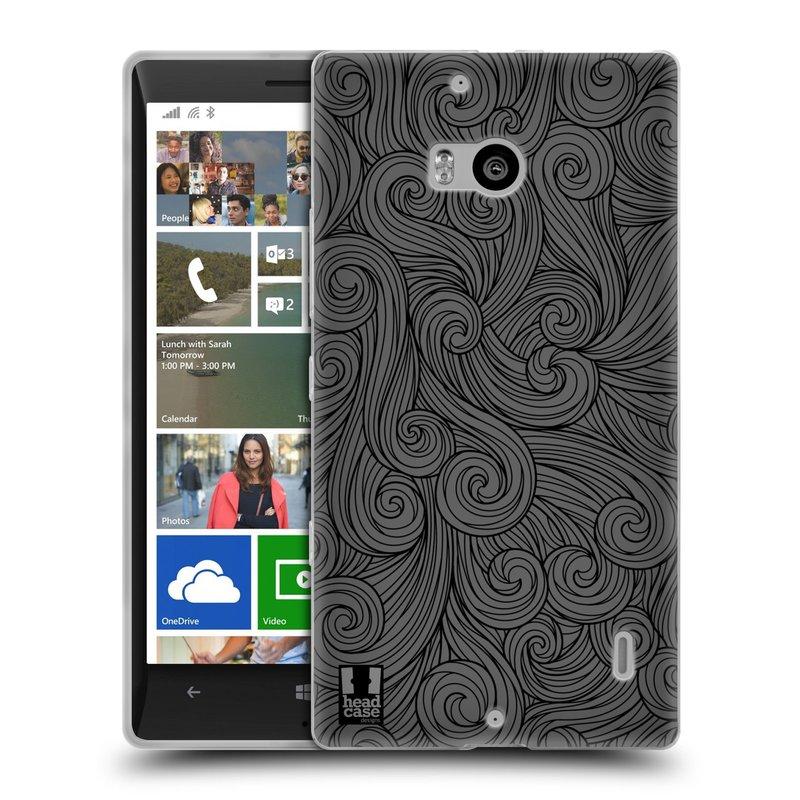 Silikonové pouzdro na mobil Nokia Lumia 930 HEAD CASE Dark Grey Swirls (Silikonový kryt či obal na mobilní telefon Nokia Lumia 930)