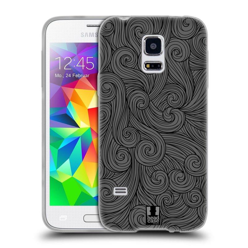 Silikonové pouzdro na mobil Samsung Galaxy S5 Mini HEAD CASE Dark Grey Swirls (Silikonový kryt či obal na mobilní telefon Samsung Galaxy S5 Mini SM-G800F)