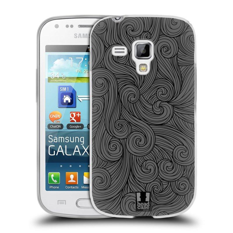 Silikonové pouzdro na mobil Samsung Galaxy S Duos HEAD CASE Dark Grey Swirls (Silikonový kryt či obal na mobilní telefon Samsung Galaxy S Duos GT-S7562)