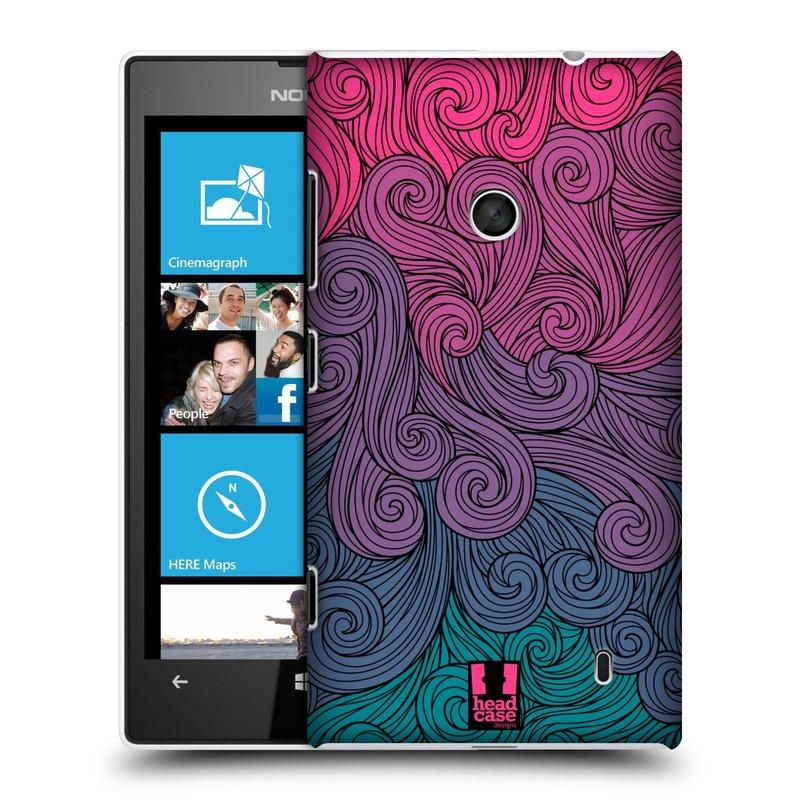Plastové pouzdro na mobil Nokia Lumia 520 HEAD CASE Swirls Hot Pink (Kryt či obal na mobilní telefon Nokia Lumia 520 )