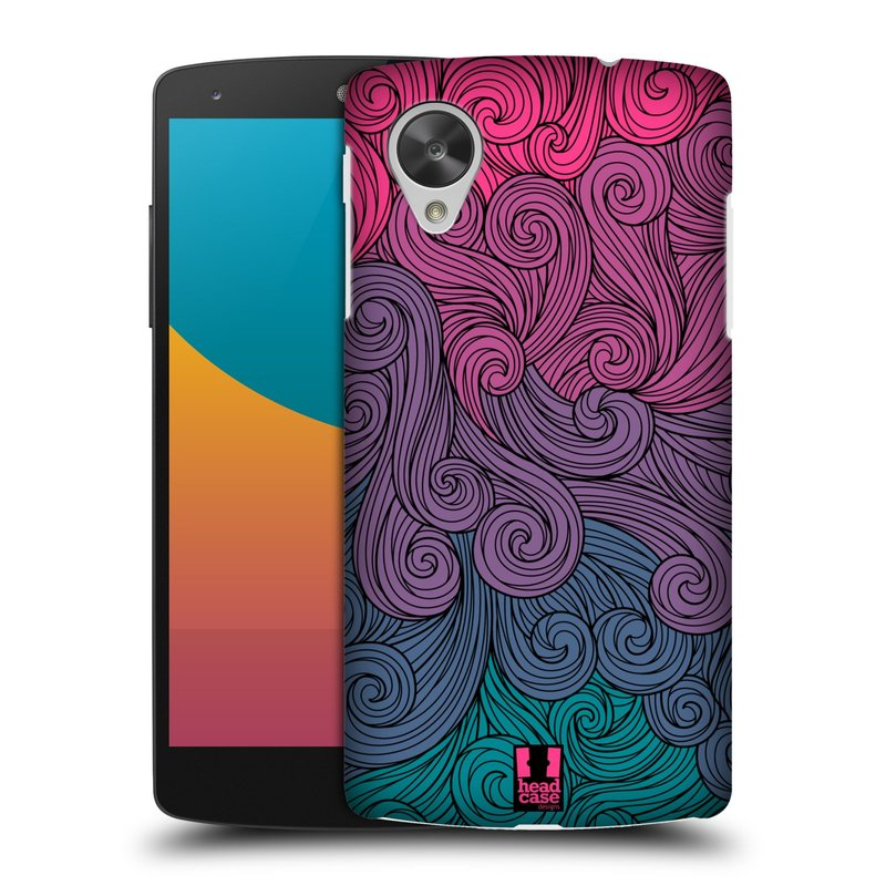 Plastové pouzdro na mobil LG Nexus 5 HEAD CASE Swirls Hot Pink (Kryt či obal na mobilní telefon LG Google Nexus 5 D821)