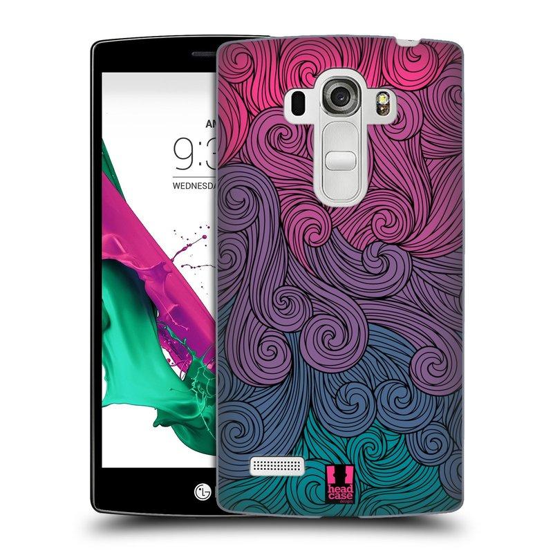 Plastové pouzdro na mobil LG G4s HEAD CASE Swirls Hot Pink (Kryt či obal na mobilní telefon LG G4s H735n)
