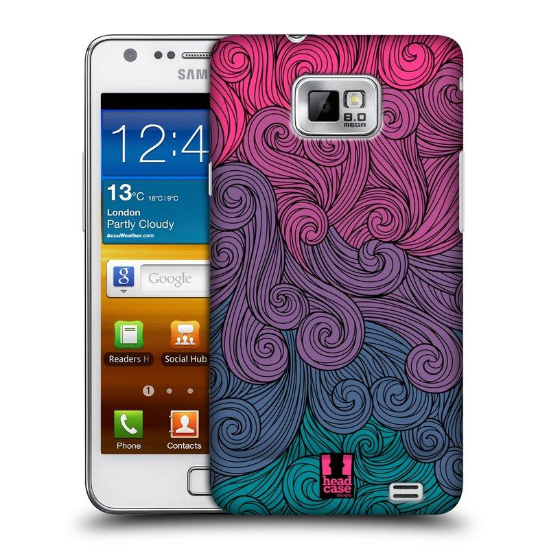 Plastové pouzdro na mobil Samsung Galaxy S II HEAD CASE Swirls Hot Pink (Kryt či obal na mobilní telefon Samsung Galaxy S II GT-i9100)