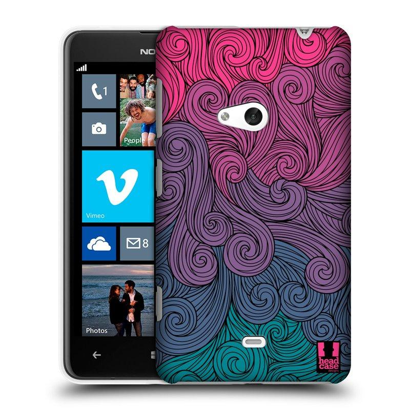 Plastové pouzdro na mobil Nokia Lumia 625 HEAD CASE Swirls Hot Pink (Kryt či obal na mobilní telefon Nokia Lumia 625)