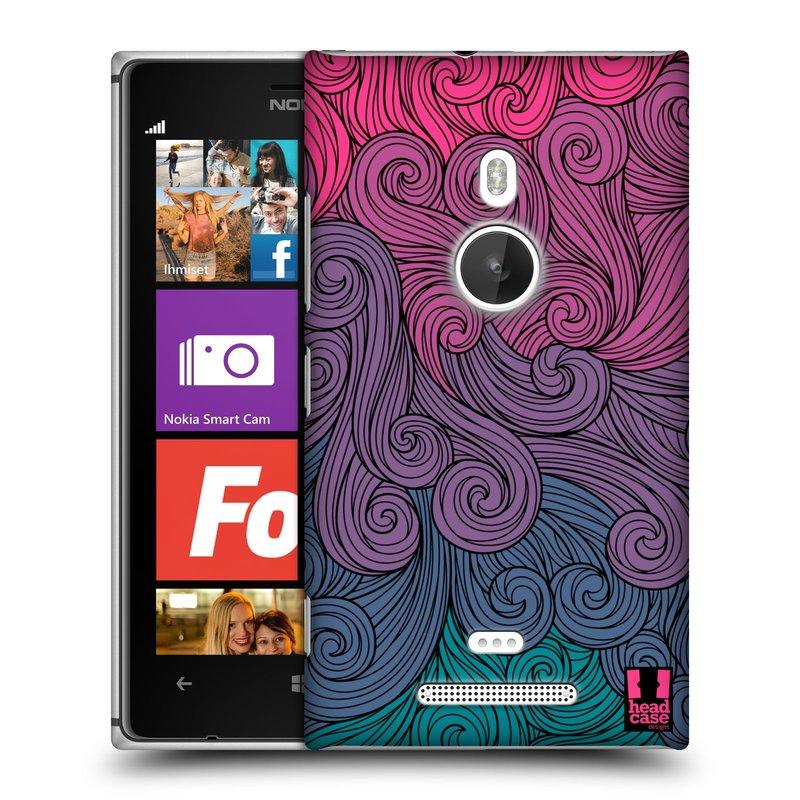 Plastové pouzdro na mobil Nokia Lumia 925 HEAD CASE Swirls Hot Pink (Kryt či obal na mobilní telefon Nokia Lumia 925)