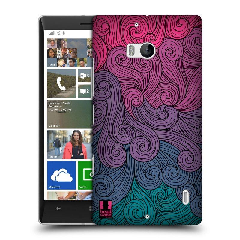 Plastové pouzdro na mobil Nokia Lumia 930 HEAD CASE Swirls Hot Pink (Kryt či obal na mobilní telefon Nokia Lumia 930)