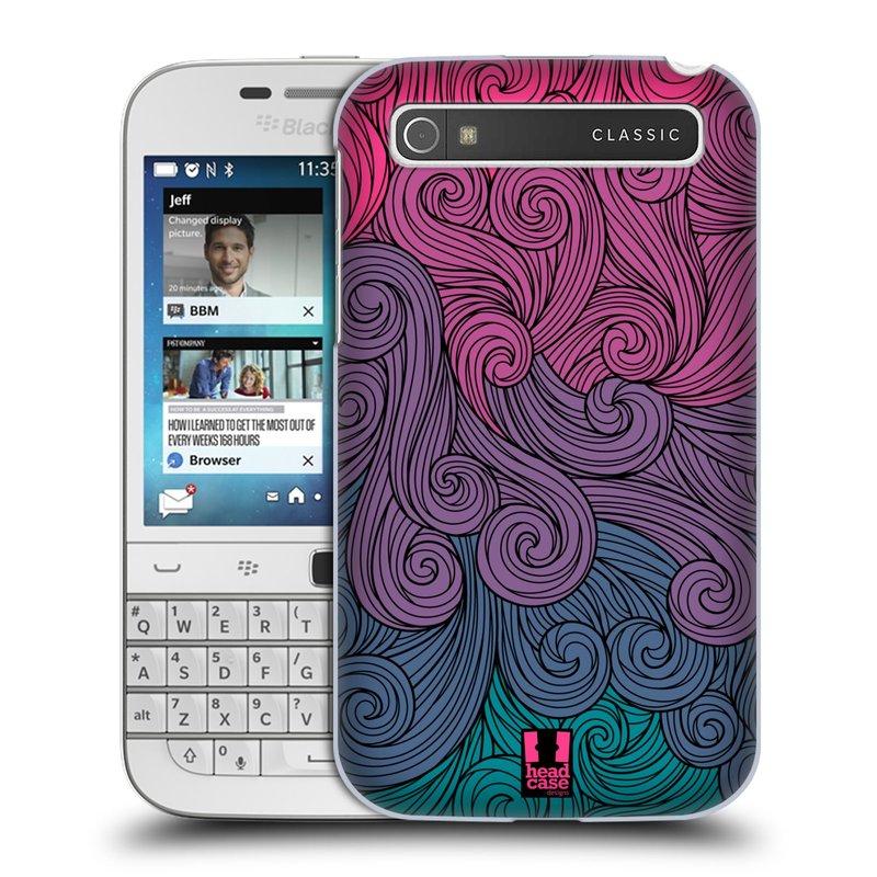 Plastové pouzdro na mobil Blackberry Classic HEAD CASE Swirls Hot Pink (Kryt či obal na mobilní telefon Blackberry Classic)