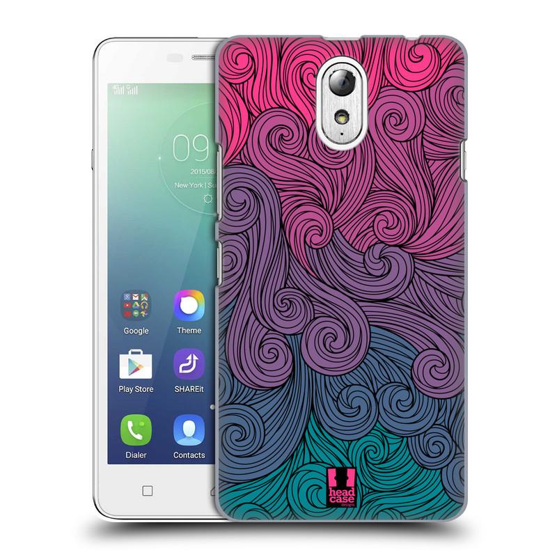 Plastové pouzdro na mobil Lenovo Vibe P1m HEAD CASE Swirls Hot Pink (Kryt či obal na mobilní telefon Lenovo Vibe P1m)