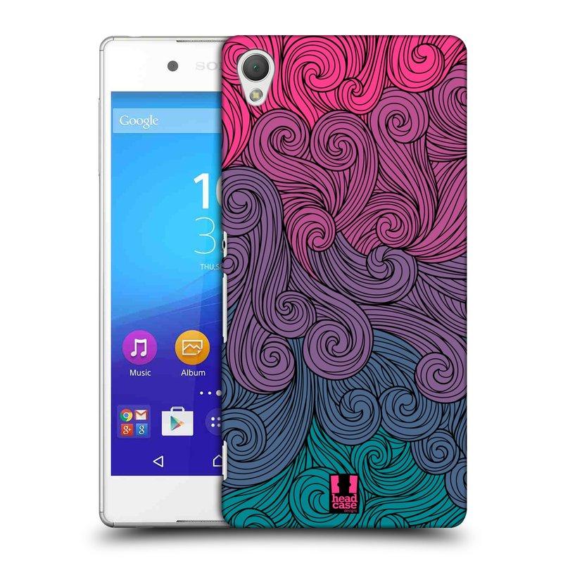 Plastové pouzdro na mobil Sony Xperia Z3+ (Plus) HEAD CASE Swirls Hot Pink (Kryt či obal na mobilní telefon Sony Xperia Z3+ a Sony Xperia Z4 )