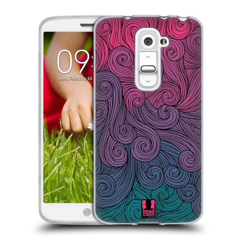 Silikonové pouzdro na mobil LG G2 Mini HEAD CASE Swirls Hot Pink (Silikonový kryt či obal na mobilní telefon LG G2 Mini D620)