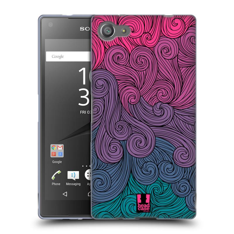 Silikonové pouzdro na mobil Sony Xperia Z5 Compact HEAD CASE Swirls Hot Pink (Silikonový kryt či obal na mobilní telefon Sony Xperia Z5 Compact E5823)