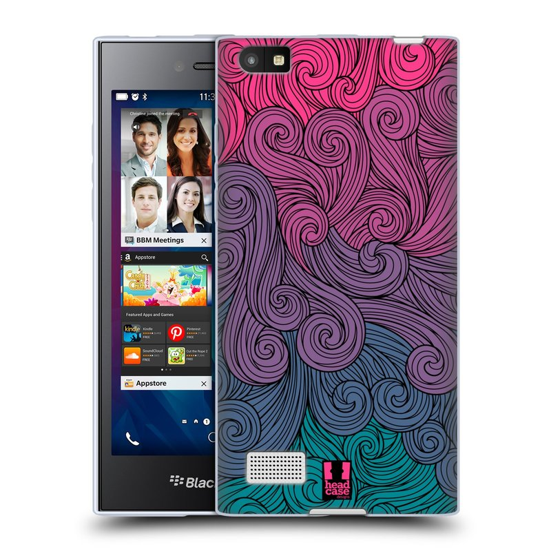 Silikonové pouzdro na mobil Blackberry Leap HEAD CASE Swirls Hot Pink (Silikonový kryt či obal na mobilní telefon Blackberry Leap)