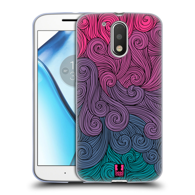 Silikonové pouzdro na mobil Lenovo Moto G4 HEAD CASE Swirls Hot Pink (Silikonový kryt či obal na mobilní telefon Lenovo Moto G4 (Single a Dual SIM))
