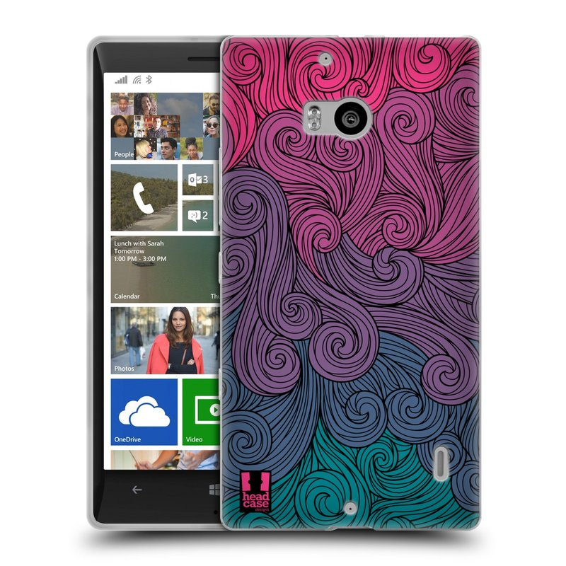 Silikonové pouzdro na mobil Nokia Lumia 930 HEAD CASE Swirls Hot Pink (Silikonový kryt či obal na mobilní telefon Nokia Lumia 930)