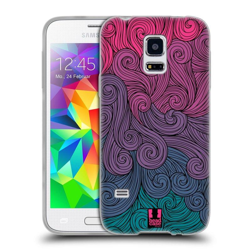 Silikonové pouzdro na mobil Samsung Galaxy S5 Mini HEAD CASE Swirls Hot Pink (Silikonový kryt či obal na mobilní telefon Samsung Galaxy S5 Mini SM-G800F)