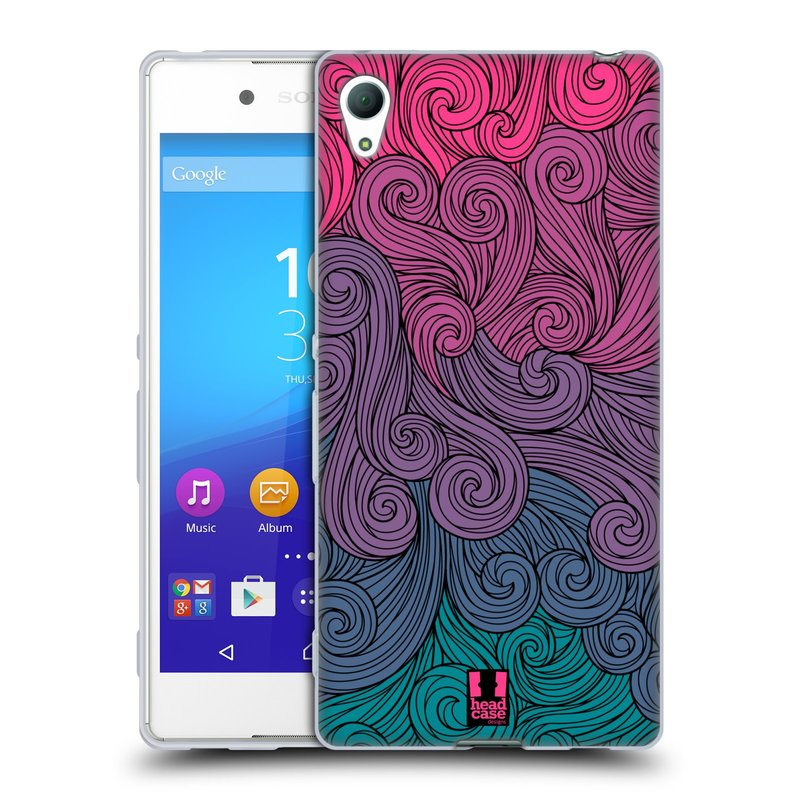 Silikonové pouzdro na mobil Sony Xperia Z3+ (Plus) HEAD CASE Swirls Hot Pink (Silikonový kryt či obal na mobilní telefon Sony Xperia Z3+ / Z4 E6553)
