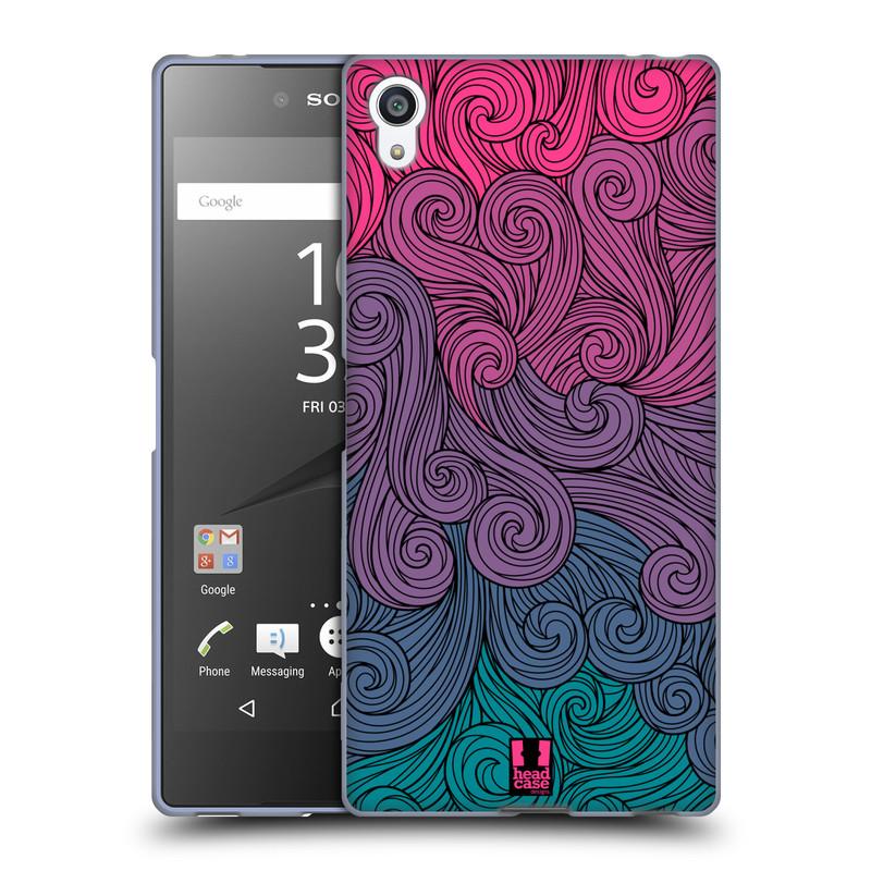 Silikonové pouzdro na mobil Sony Xperia Z5 Premium HEAD CASE Swirls Hot Pink (Silikonový kryt či obal na mobilní telefon Sony Xperia Z5 Premium E6853)