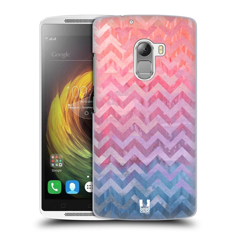Plastové pouzdro na mobil Lenovo A7010 HEAD CASE Pink Chevron (Kryt či obal na mobilní telefon Lenovo A7010 Dual SIM / K4 Note / Vibe X3 Lite)