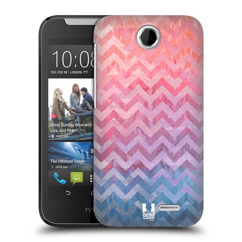 Plastové pouzdro na mobil HTC Desire 310 HEAD CASE Pink Chevron (Kryt či obal na mobilní telefon HTC Desire 310)