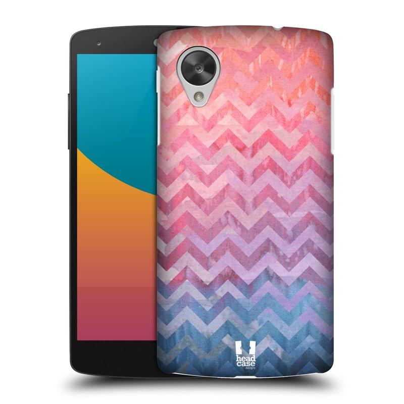 Plastové pouzdro na mobil LG Nexus 5 HEAD CASE Pink Chevron (Kryt či obal na mobilní telefon LG Google Nexus 5 D821)