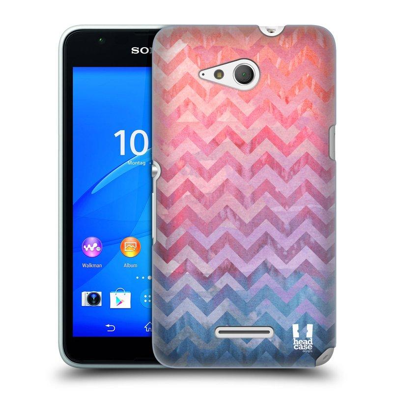 Plastové pouzdro na mobil Sony Xperia E4g E2003 HEAD CASE Pink Chevron (Kryt či obal na mobilní telefon Sony Xperia E4g a E4g Dual SIM)