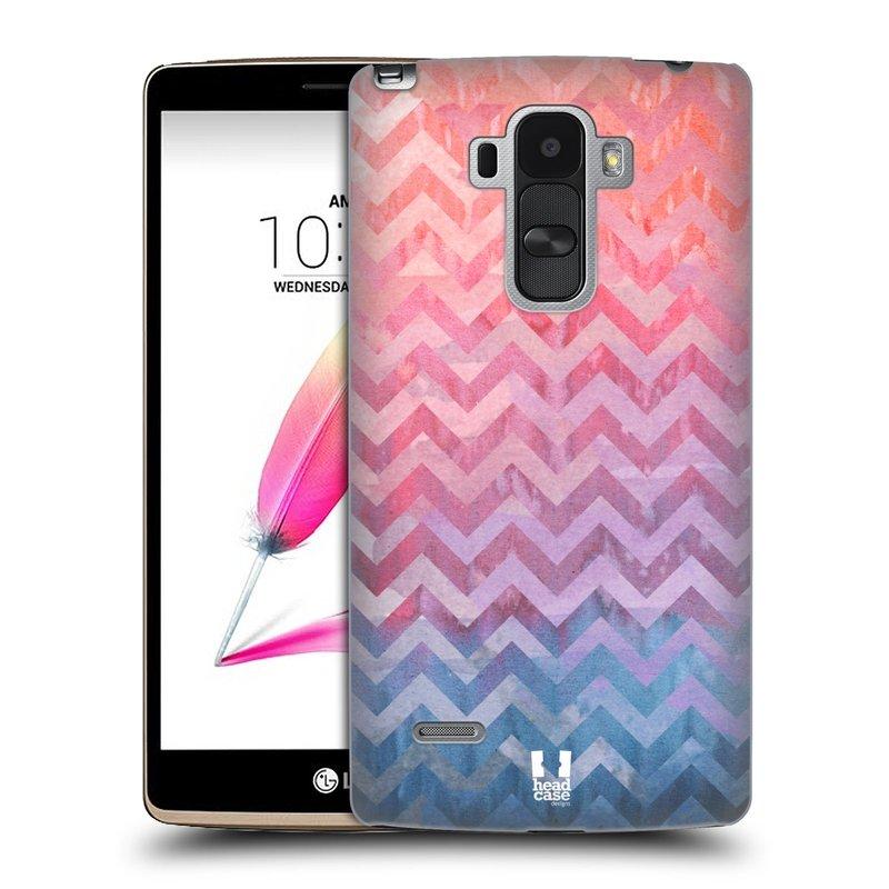 Plastové pouzdro na mobil LG G4 Stylus HEAD CASE Pink Chevron (Kryt či obal na mobilní telefon LG G4 Stylus H635)