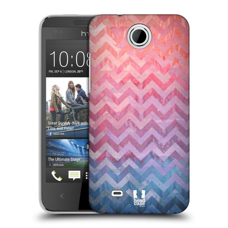 Plastové pouzdro na mobil HTC Desire 300 HEAD CASE Pink Chevron (Kryt či obal na mobilní telefon HTC Desire 300)