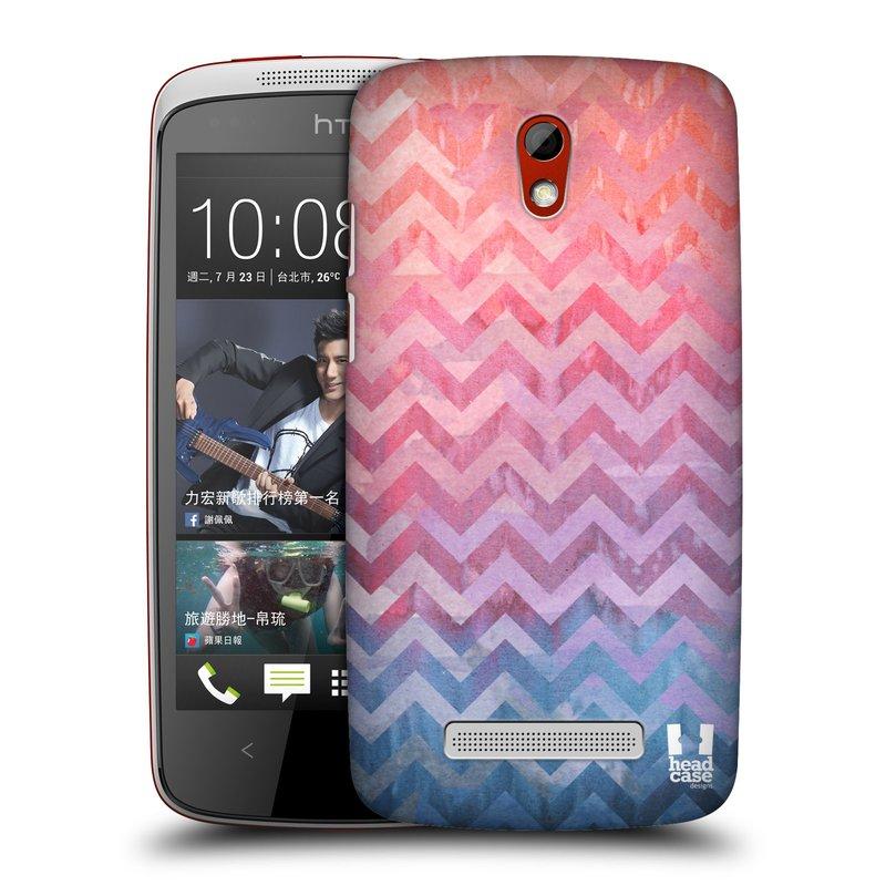 Plastové pouzdro na mobil HTC Desire 500 HEAD CASE Pink Chevron (Kryt či obal na mobilní telefon HTC Desire 500)